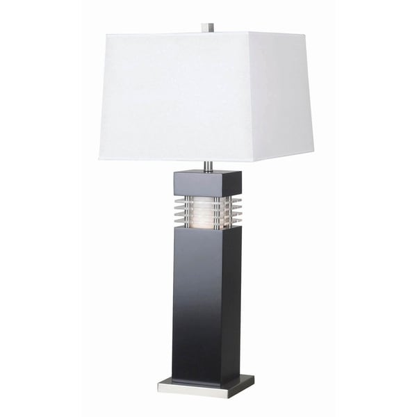 """Design Craft Moore 32"""" Table Lamp - Black Finish with Acrylic Accents"""