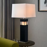 "Design Craft Moore 32"" Table Lamp - Black Finish with Acrylic Accents"