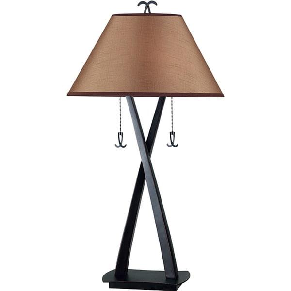 Design Craft Iommi Blackened Oil Rubbed Bronze 2-light Table Lamp