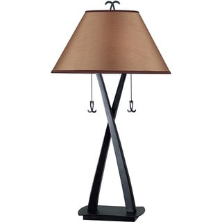 Design Craft Iommi Blackened Oil Rubbed Bronze 2-light Table Lamp