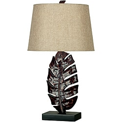 Ranaldo 26-inch Mottled Bronze Table Lamp - Thumbnail 0