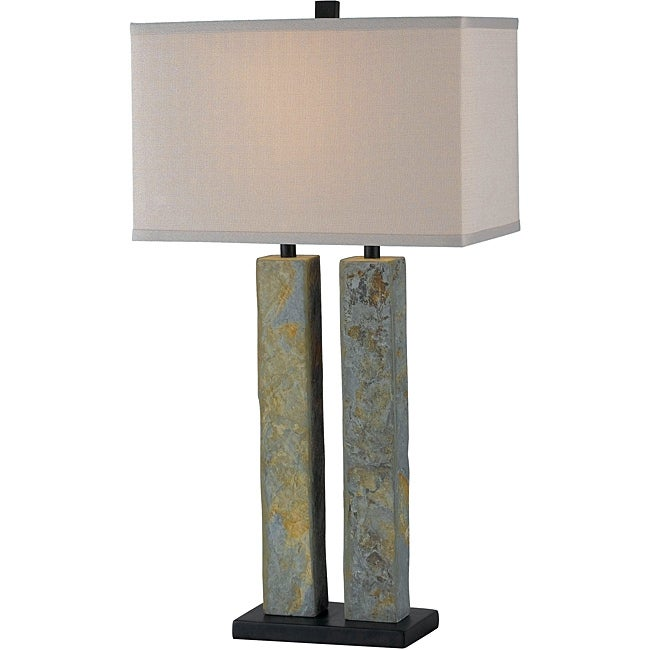 Design Craft Landon Natural Slate  Inch Table Lamp
