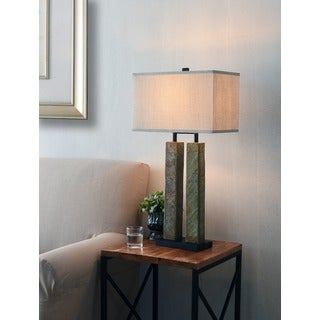 Design Craft Dayton Natural Slate 30-inch Table Lamp