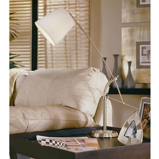 Maddox 36-inch Adjustable Brushed Steel Finish Table Lamp