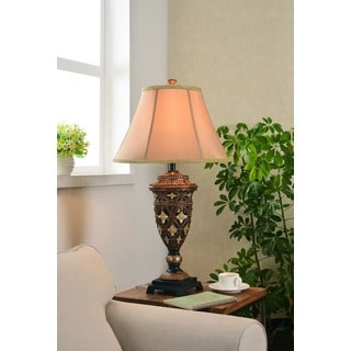 Design Craft Oliver Golden Bronze 35-inch Table Lamp
