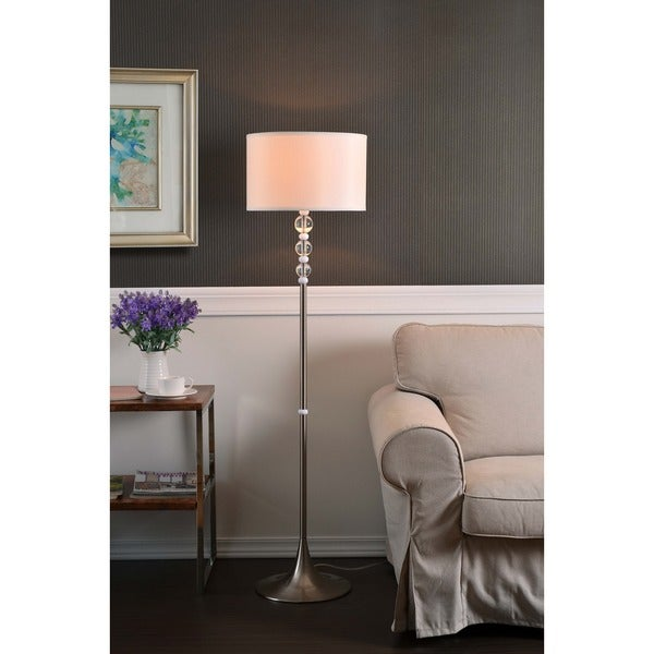 Design Craft Louisa Brushed Steel 58-inch Floor Lamp