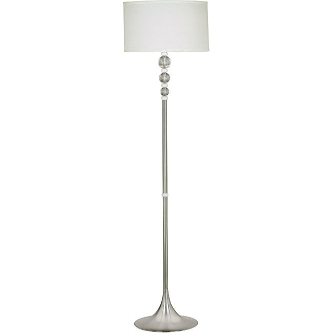 Louisa 58-inch Brushed Steel Floor Lamp