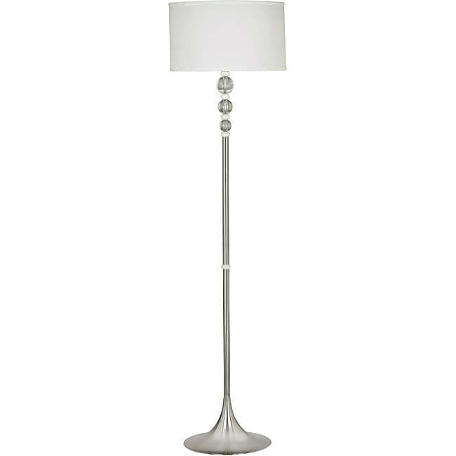 Louisa 58-inch Brushed Steel Floor Lamp