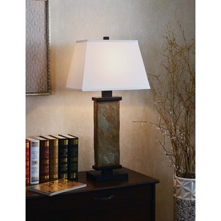 Design Craft Logan Natural Slate 29-inch Table Lamp