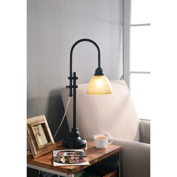 Burton 28-inch Bronze Heritage Finish Desk Lamp