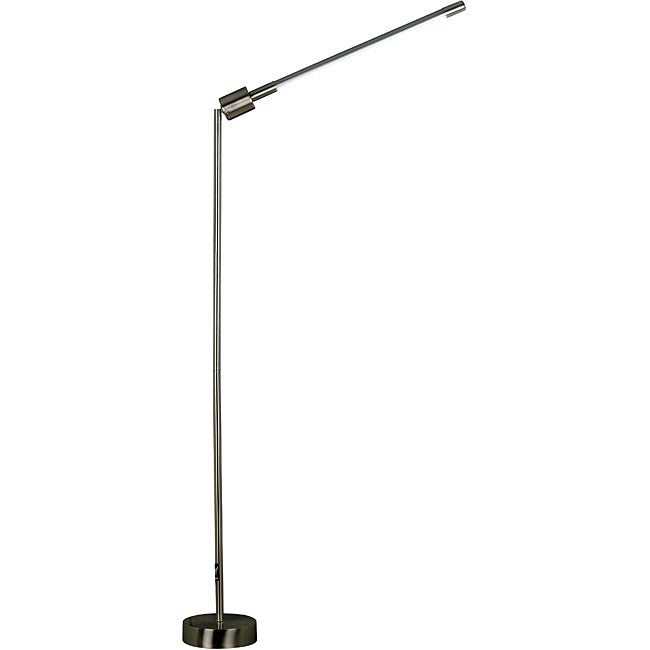 Belew 77-inch Adjustable Brushed Steel Floor Lamp