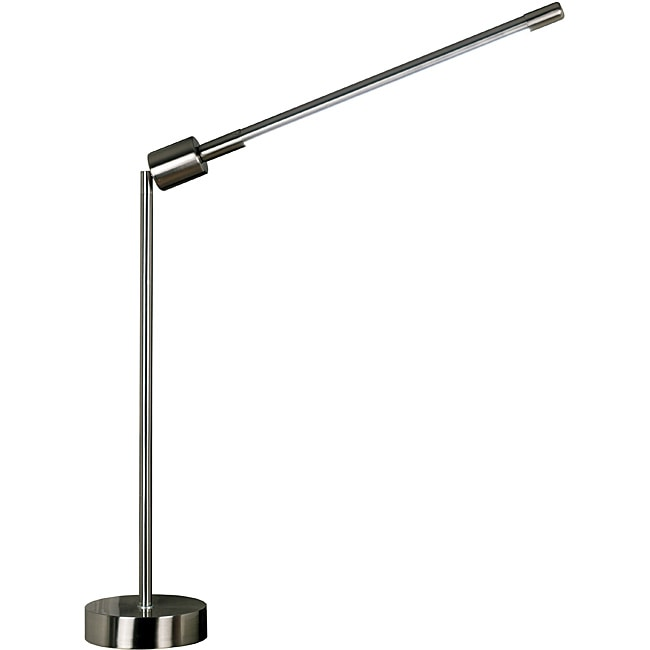 Belew 52-inch Adjustable Brushed Steel Table Lamp