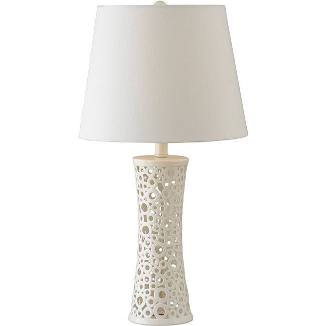 Blanco 26-inch White Gloss Table Lamp