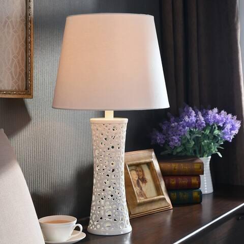 Blanco 26-inch White Ceramic Table Lamp