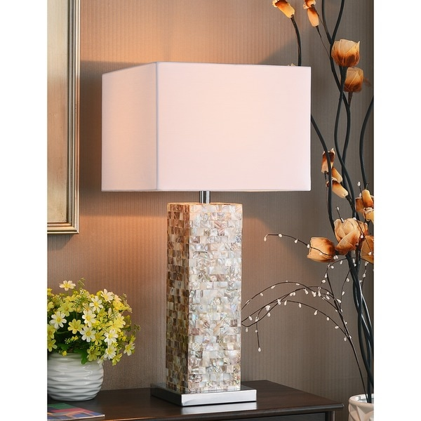 Marino 30 Inch Mother Of Pearl Finish Table Lamp Free Shipping Today Overstock Com 14179463