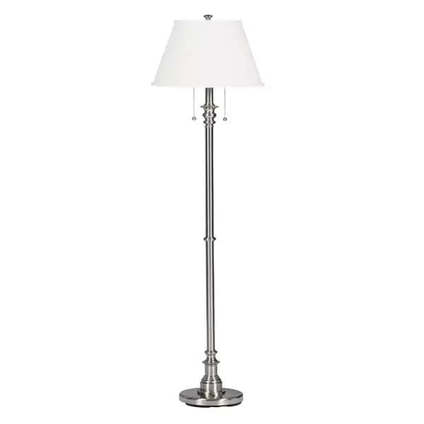 Davies 60-inch Brushed Steel Floor Lamp