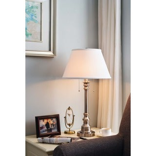 Design Craft Davies 31-inch Brushed Steel Table Lamp
