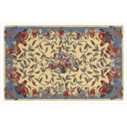Nourison Hand-hooked Yellow Country Heritage Rug (1'9 x 2'9)