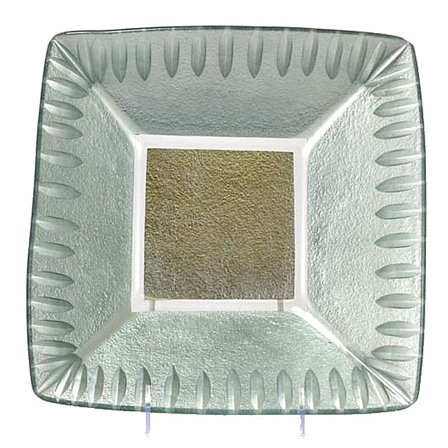 Tango Silver Etched Leaf Serving Bowl