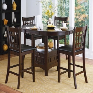 TRIBECCA HOME Banbury Dark Cherry Mission 5-piece Counter Height Set