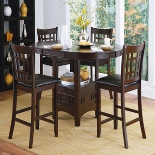 Banbury Dark Cherry Mission 5-piece Counter Height Set by iNSPIRE Q Classic