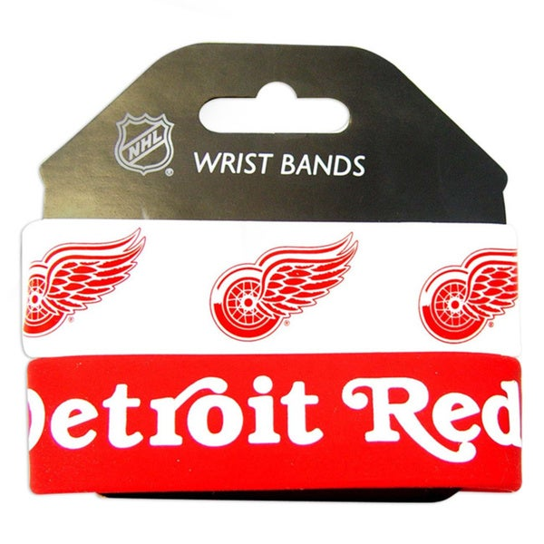 Aminco Detroit Red Wings Rubber Wristbands (Set of 2)