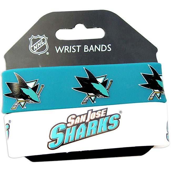 Aminco San Jose Sharks Rubber Wristbands (Set of 2)