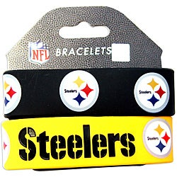 Aminco Pittsburgh Steelers Rubber Wristbands Set Of 2