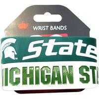 Aminco Michigan State Spartans Rubber Wristbands (Set of 2)