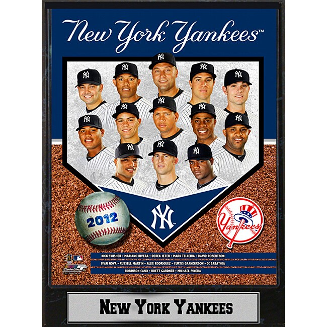 New York Yankees 2012 Baseball Memorabilia Stat Photo Plaque