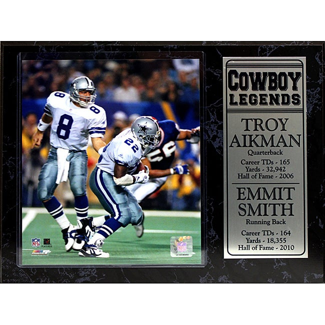 Shop Dallas Cowboys Troy Aikman and Emmitt Smith Stat Plaque - On Sale -  Free Shipping On Orders Over  45 - Overstock - 6610447 147e766d5