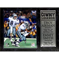 Dallas Cowboys Troy Aikman and Emmitt Smith Stat Plaque