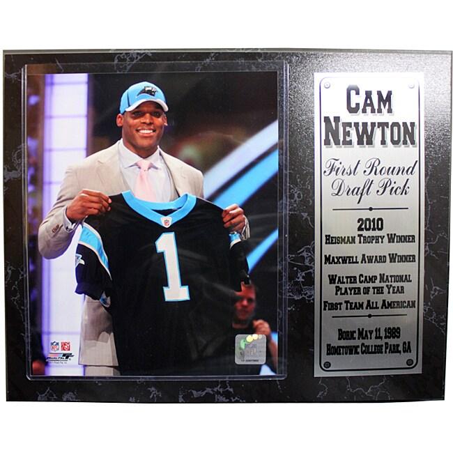 Carolina Panthers Cam Newton Stat Plaque