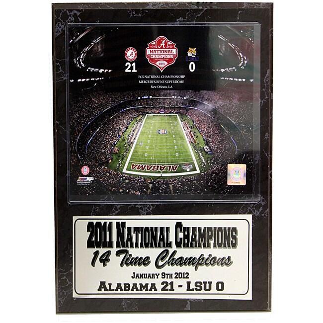 National Champion 2011 University of Alabama Louisiana Superdome Stat Plaque