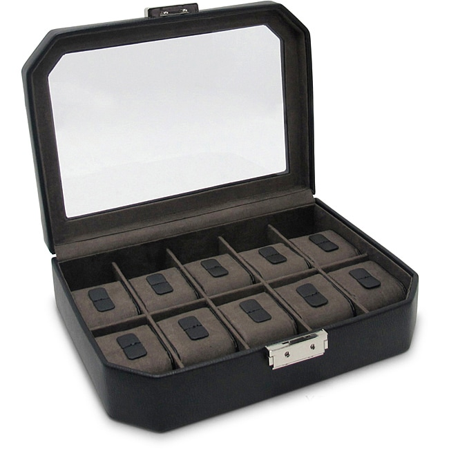 Morelle 'Lincoln' Leather 10 Watch Box