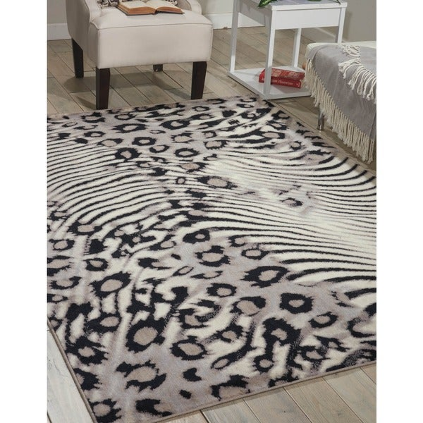 Nourison Utopia Beige Casual Abstract Rug - 7'9 x 10'10