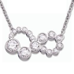 18k White Gold 1ct TDW Diamond Infinity Necklace (H-I, SI1-SI2)