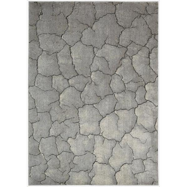 Nourison Utopia Interior Grey Abstract Rug - 7'9 x 10'10