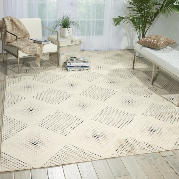 Nourison Utopia Beige Abstract Rug - 7'9 x 10'10