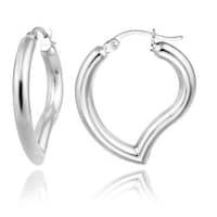 558c8e8417 Shop Large Heart Shaped Tube Big Hoop Earrings For Women Teen 925 ...