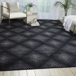 Nourison Utopia Black Abstract Rug (7'9 x 10'10)