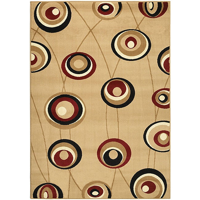 Admire Home Living Virginia Beige Contempo Area Rug (7'9 x 11')