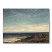Gustave Courbet 'The Sea' Landscape Canvas Art