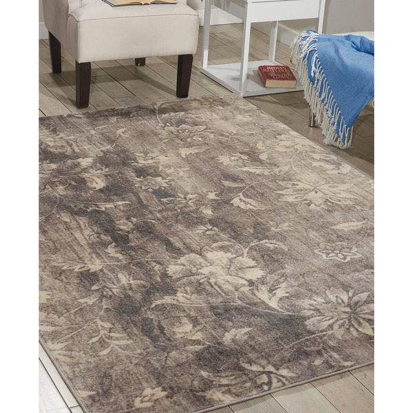 Nourison Utopia Grey Abstract Rug (7'9 x 10'10)