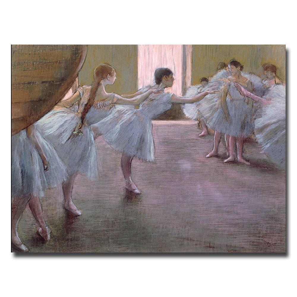 Edgar Degas 'Dancers at Rehearsal, 1875-77' Canvas Art