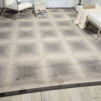 """Nourison Utopia Ivory Square Abstract Rug - 7'9"""" x 10'10"""""""
