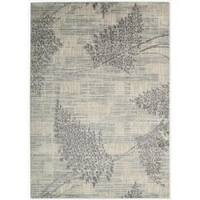 Nourison Utopia Ivory Abstract Area Rug - 5'3 x 7'5