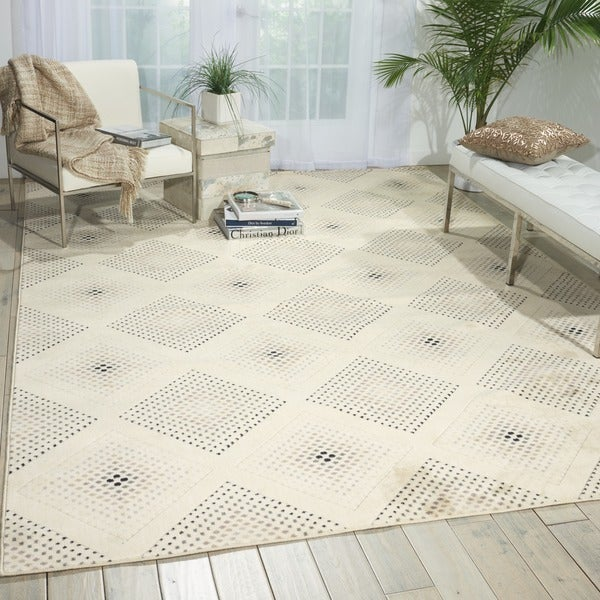 Nourison Utopia Beige Abstract Rug