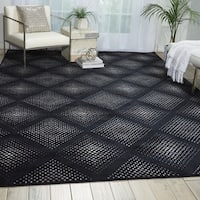 Nourison Utopia Black Abstract Rug - 5'3 x 7'5