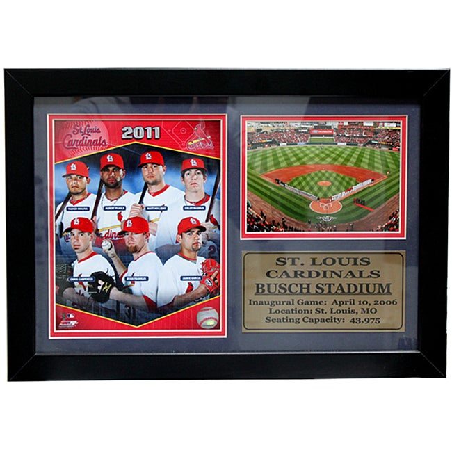 St. Louis Cardinals 2011 Photo / Field Stat Frame